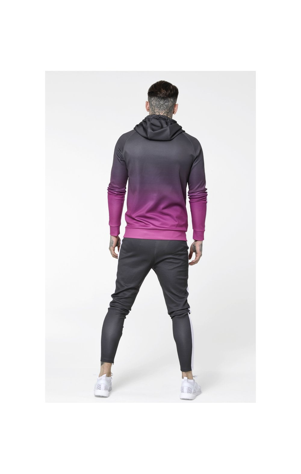 Load image into Gallery viewer, SikSilk Vapour Fade Overhead Hoodie - Grey & Pink (5)