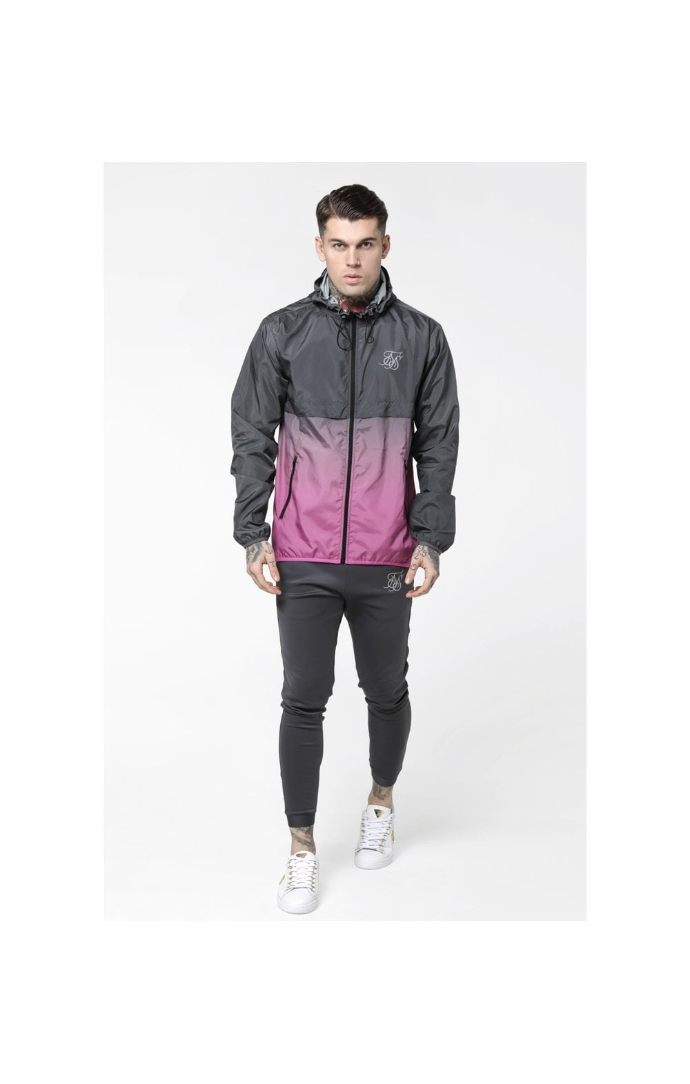 Load image into Gallery viewer, SikSilk Fade Windrunner - Grey & Pink (3)