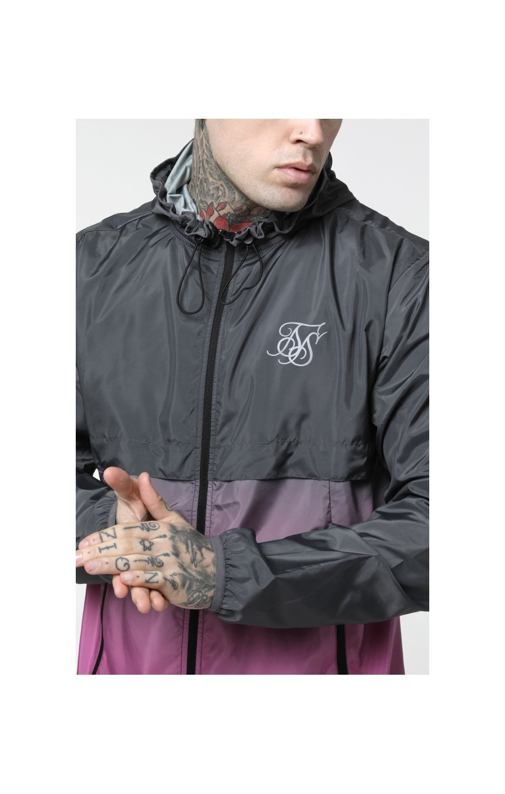 SikSilk Fade Windrunner - Grey & Pink