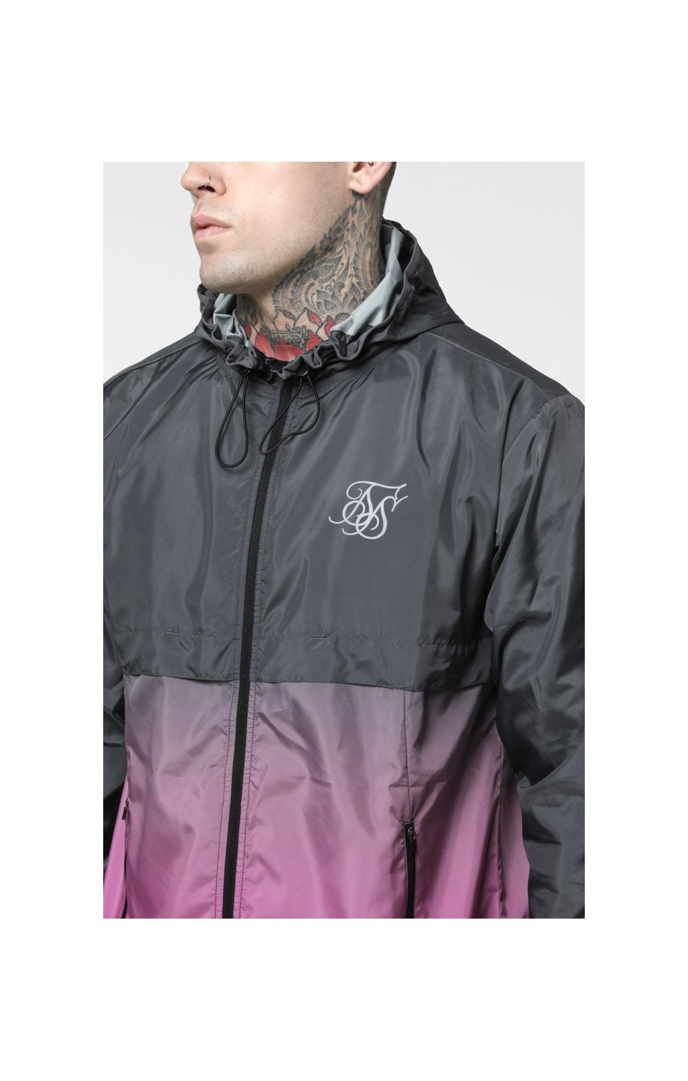 Load image into Gallery viewer, SikSilk Fade Windrunner - Grey & Pink (2)