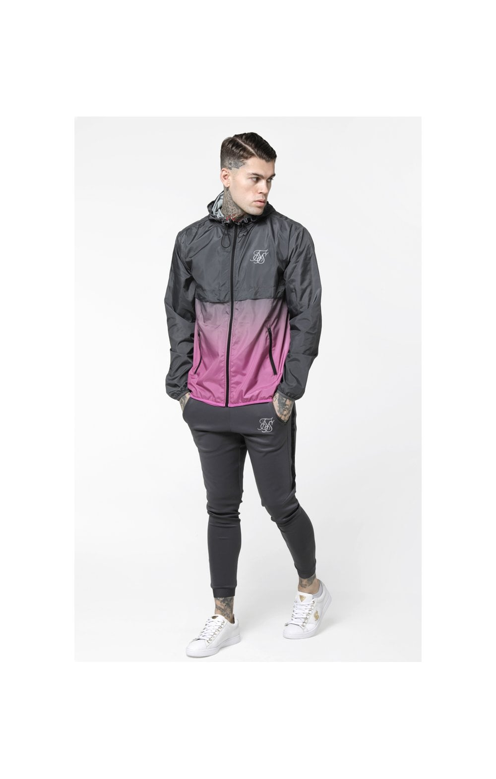 Load image into Gallery viewer, SikSilk Fade Windrunner - Grey & Pink (1)