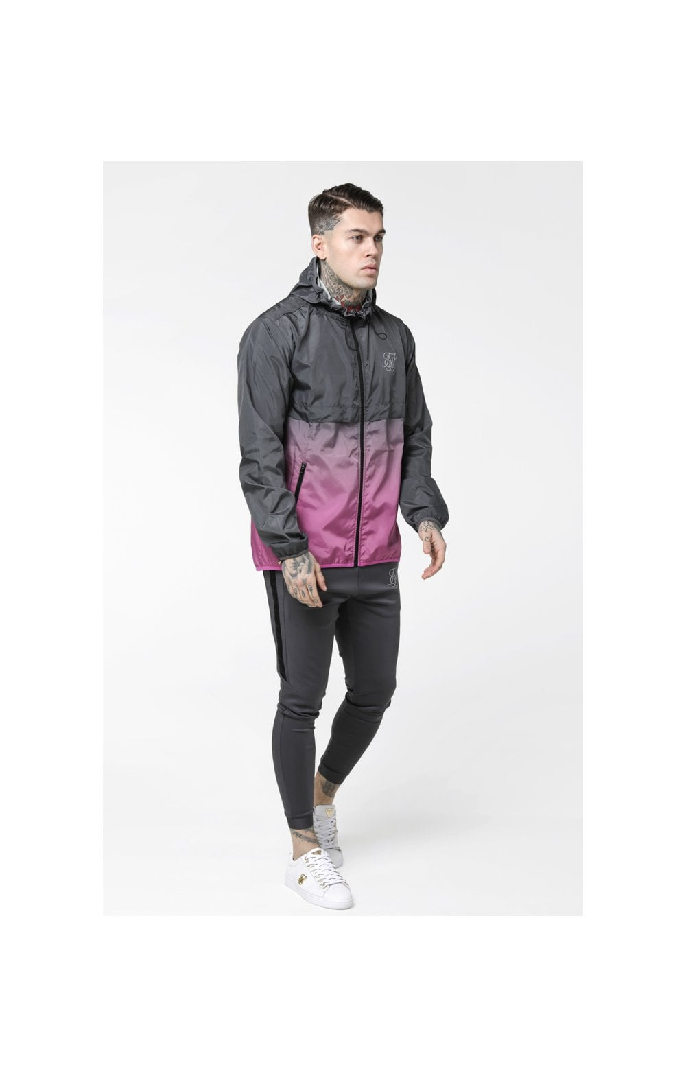 Load image into Gallery viewer, SikSilk Fade Windrunner - Grey & Pink (4)