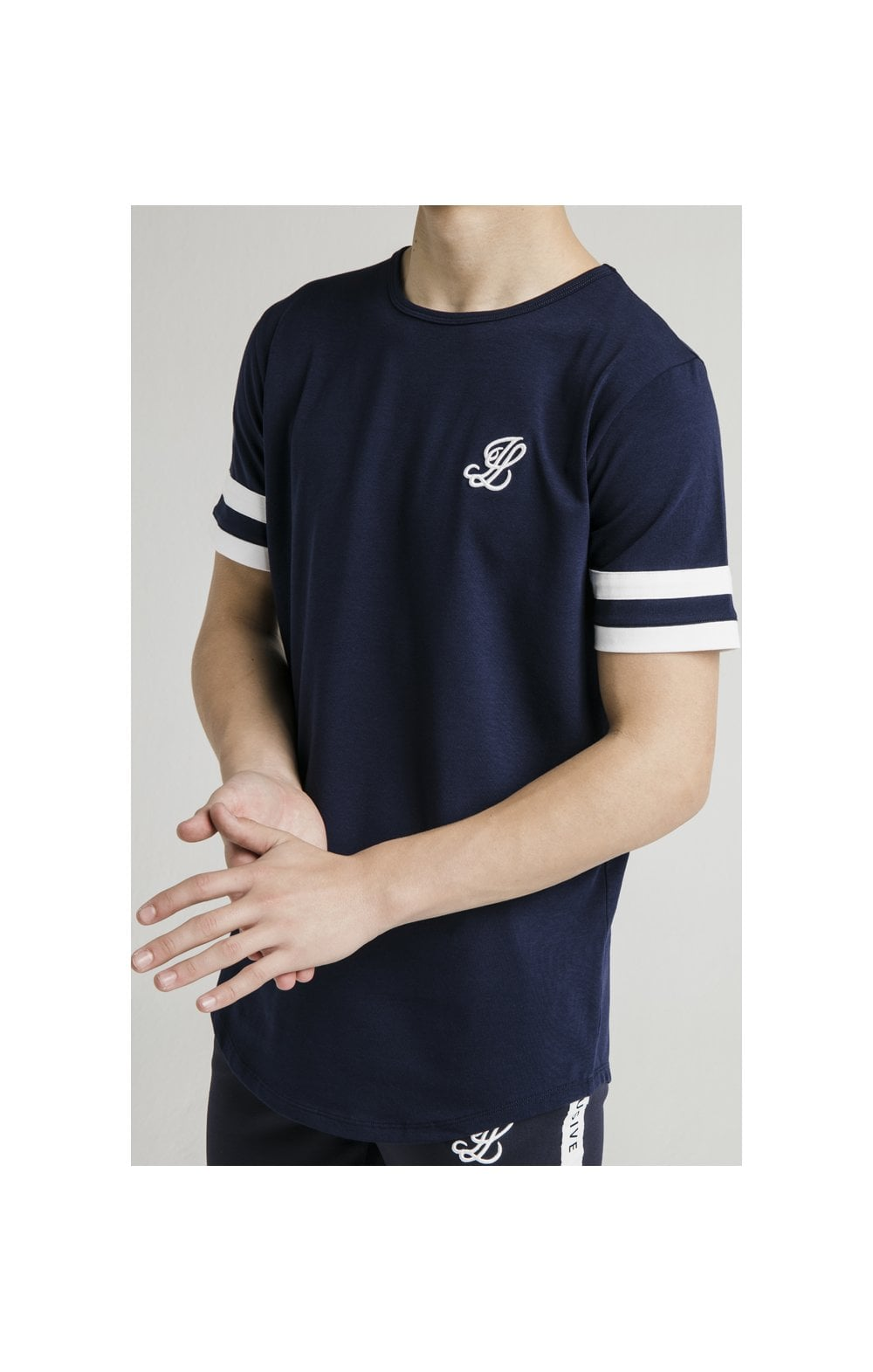 Load image into Gallery viewer, Illusive London Tournament Tee - Navy & White