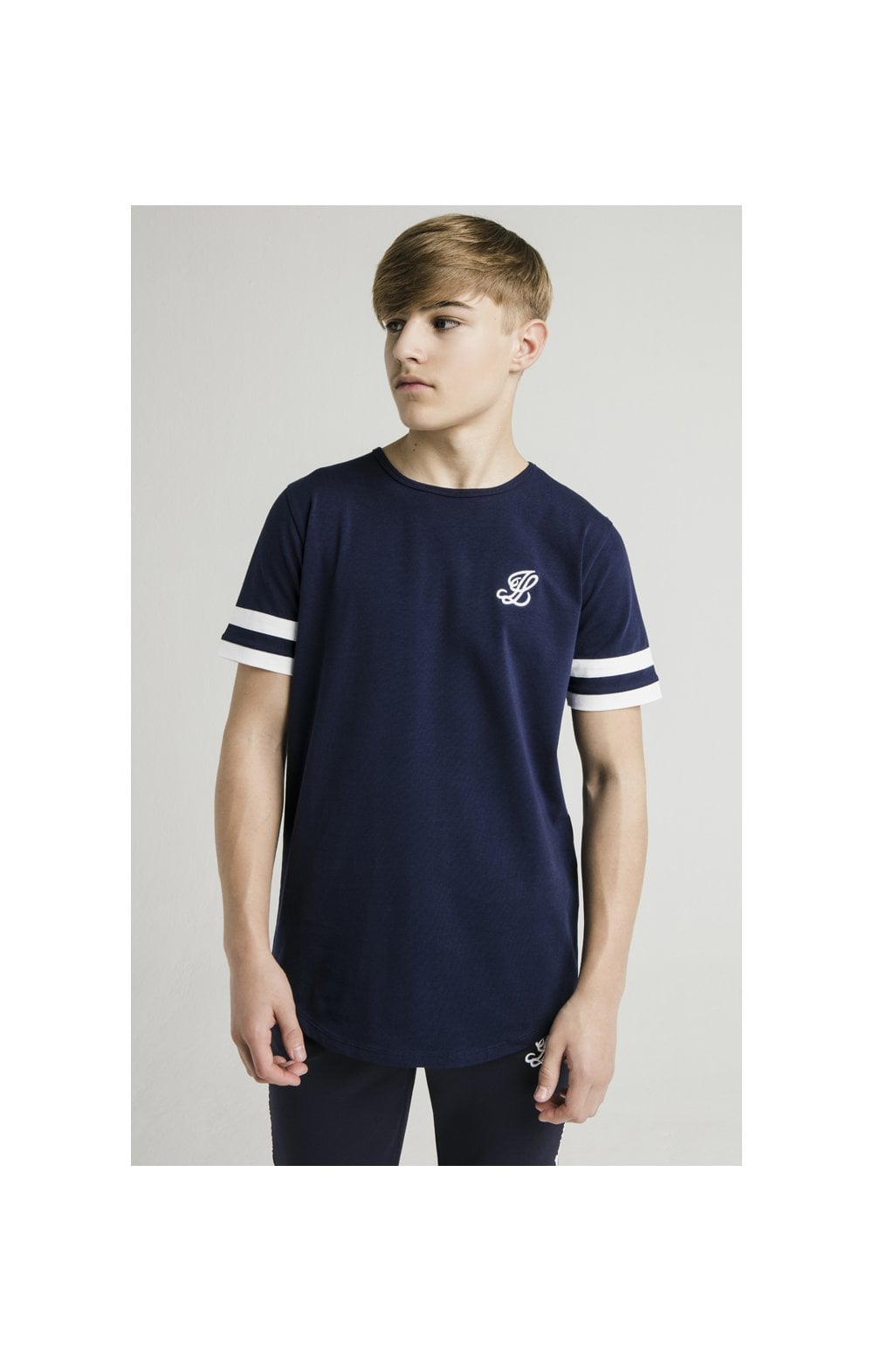 Load image into Gallery viewer, Illusive London Tournament Tee - Navy & White (1)