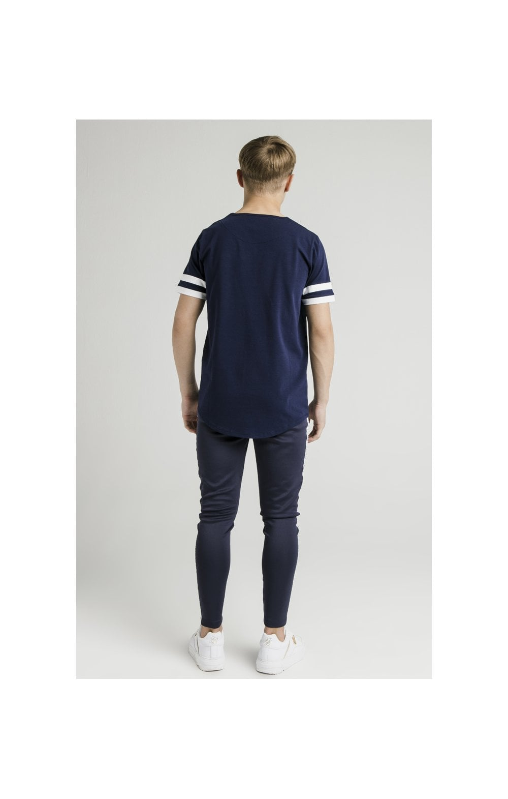 Load image into Gallery viewer, Illusive London Tournament Tee - Navy & White (4)