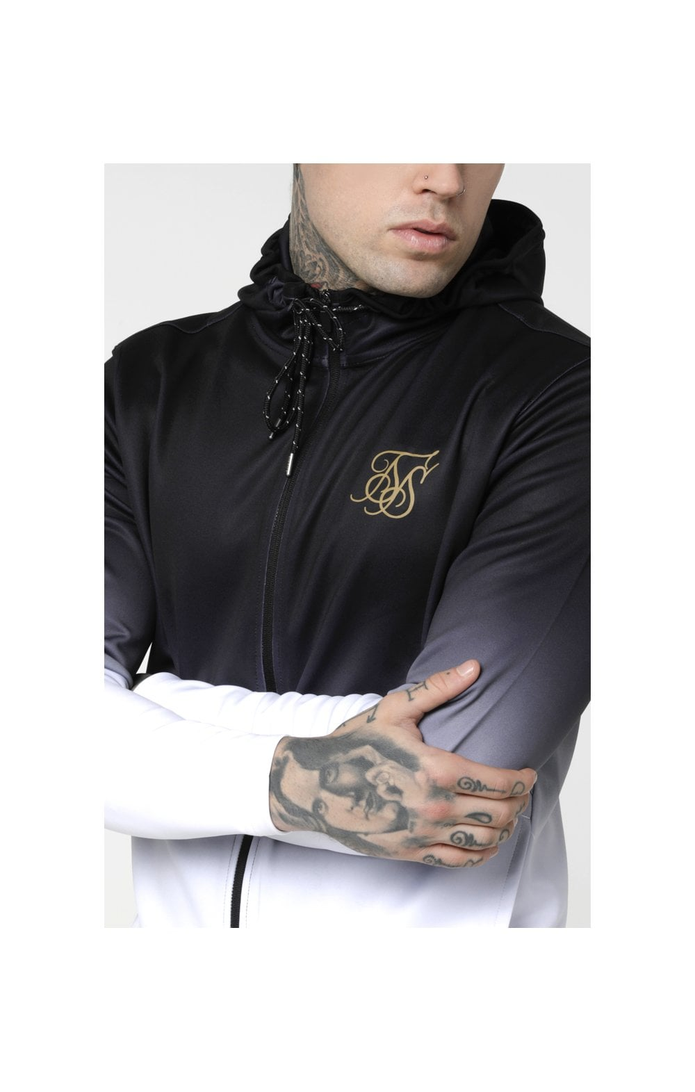 Load image into Gallery viewer, SikSilk Agility Zip Through Hoodie - Black & White