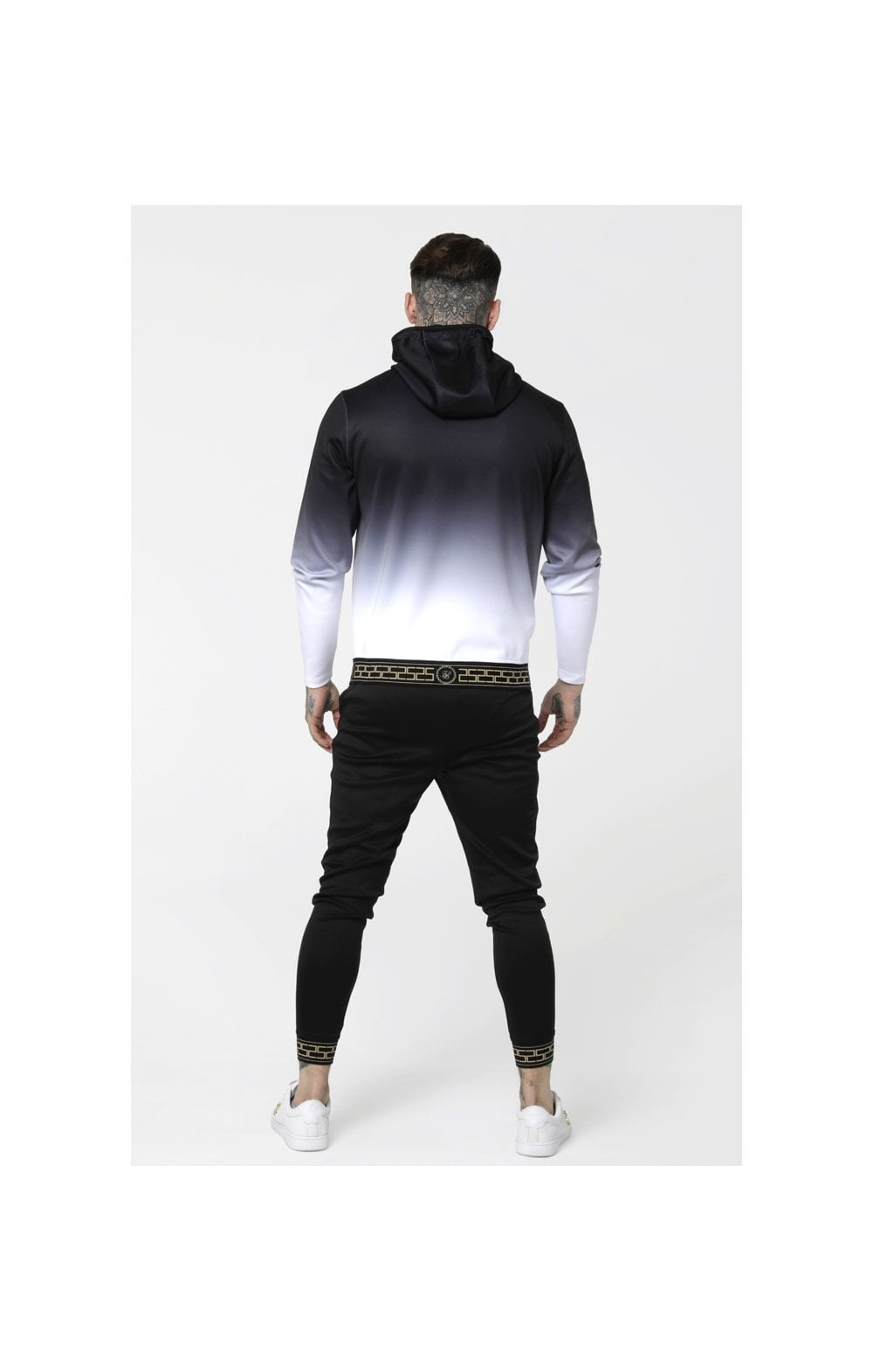 Load image into Gallery viewer, SikSilk Agility Zip Through Hoodie - Black & White (6)