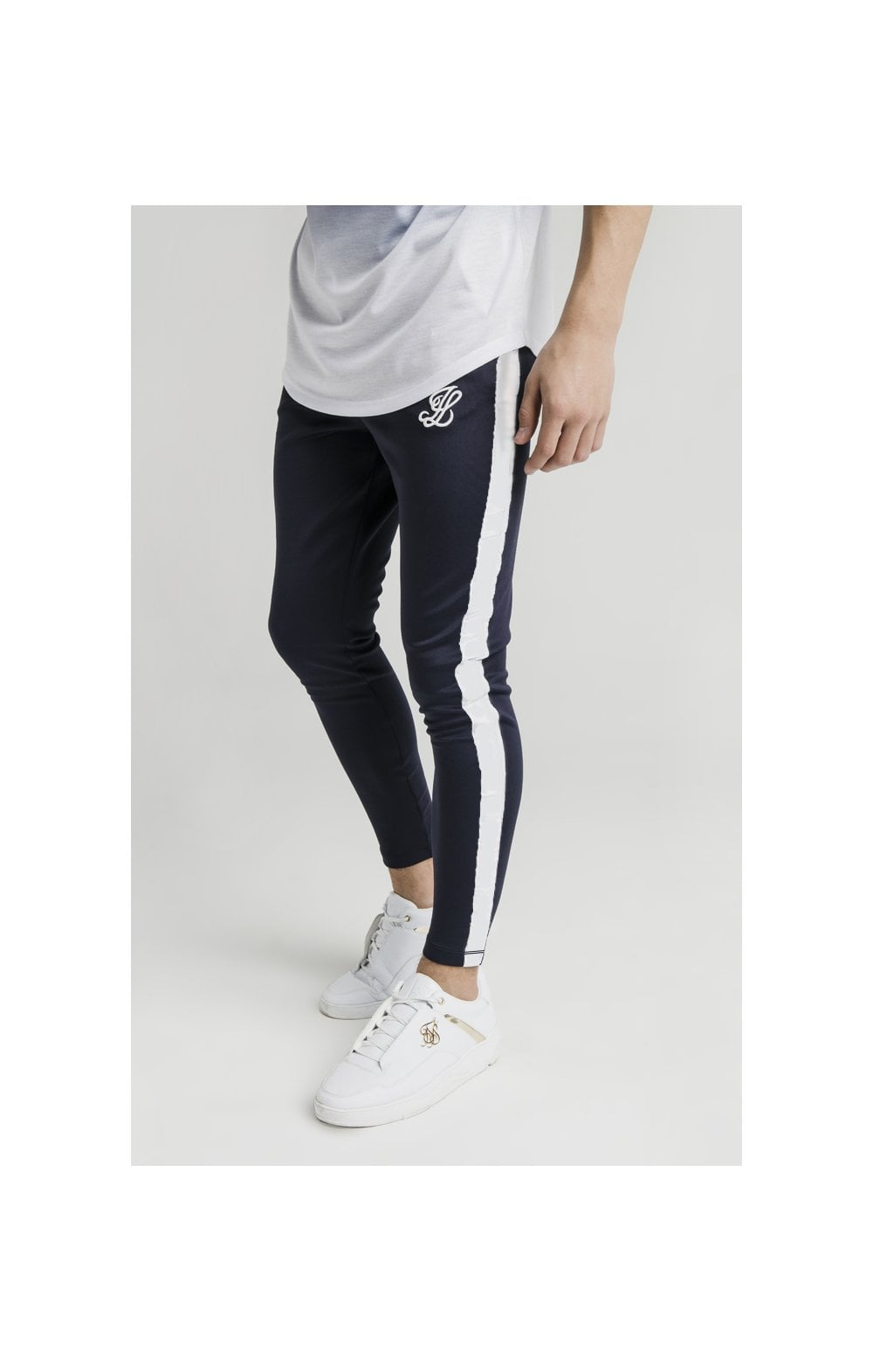 Illusive London Athlete Joggers - Navy & White