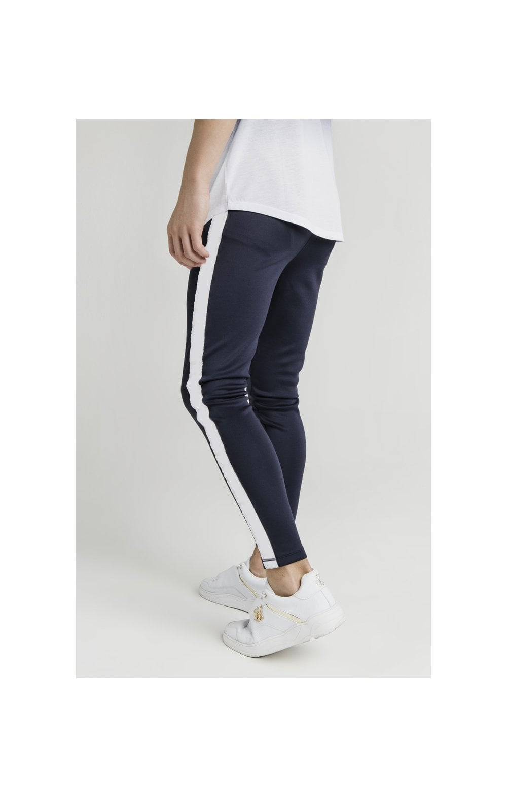 Load image into Gallery viewer, Illusive London Athlete Joggers - Navy & White (1)