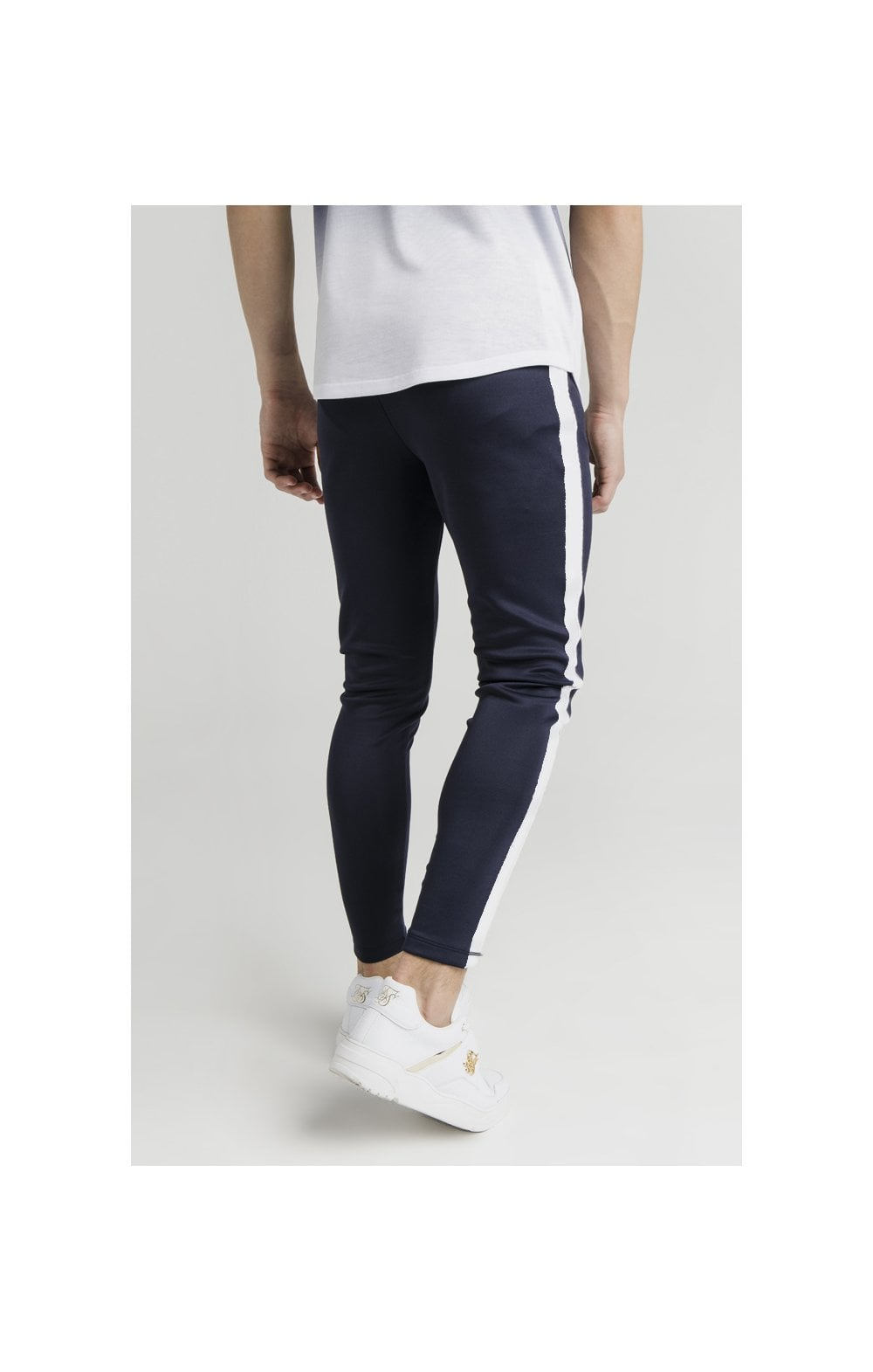 Load image into Gallery viewer, Illusive London Athlete Joggers - Navy & White (2)
