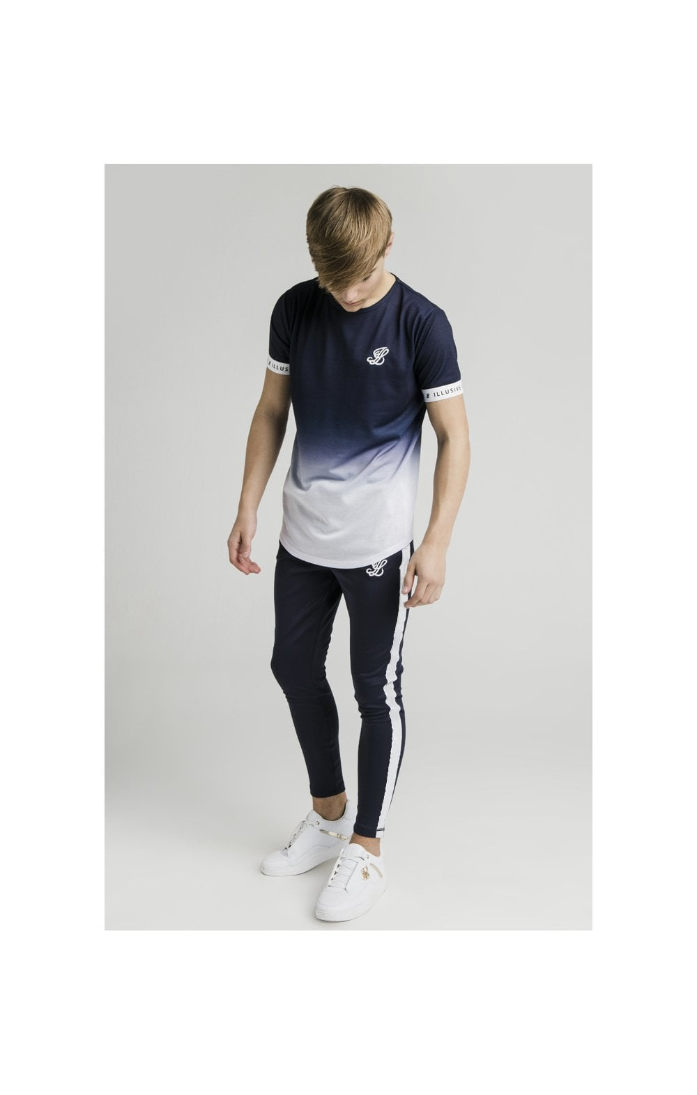 Load image into Gallery viewer, Illusive London Athlete Joggers - Navy & White (3)