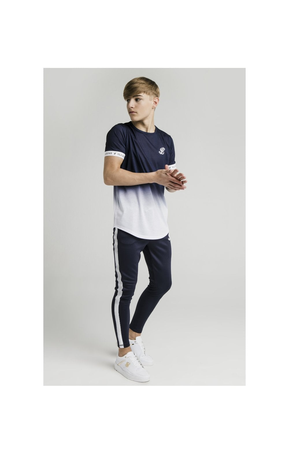 Load image into Gallery viewer, Illusive London Athlete Joggers - Navy & White (4)
