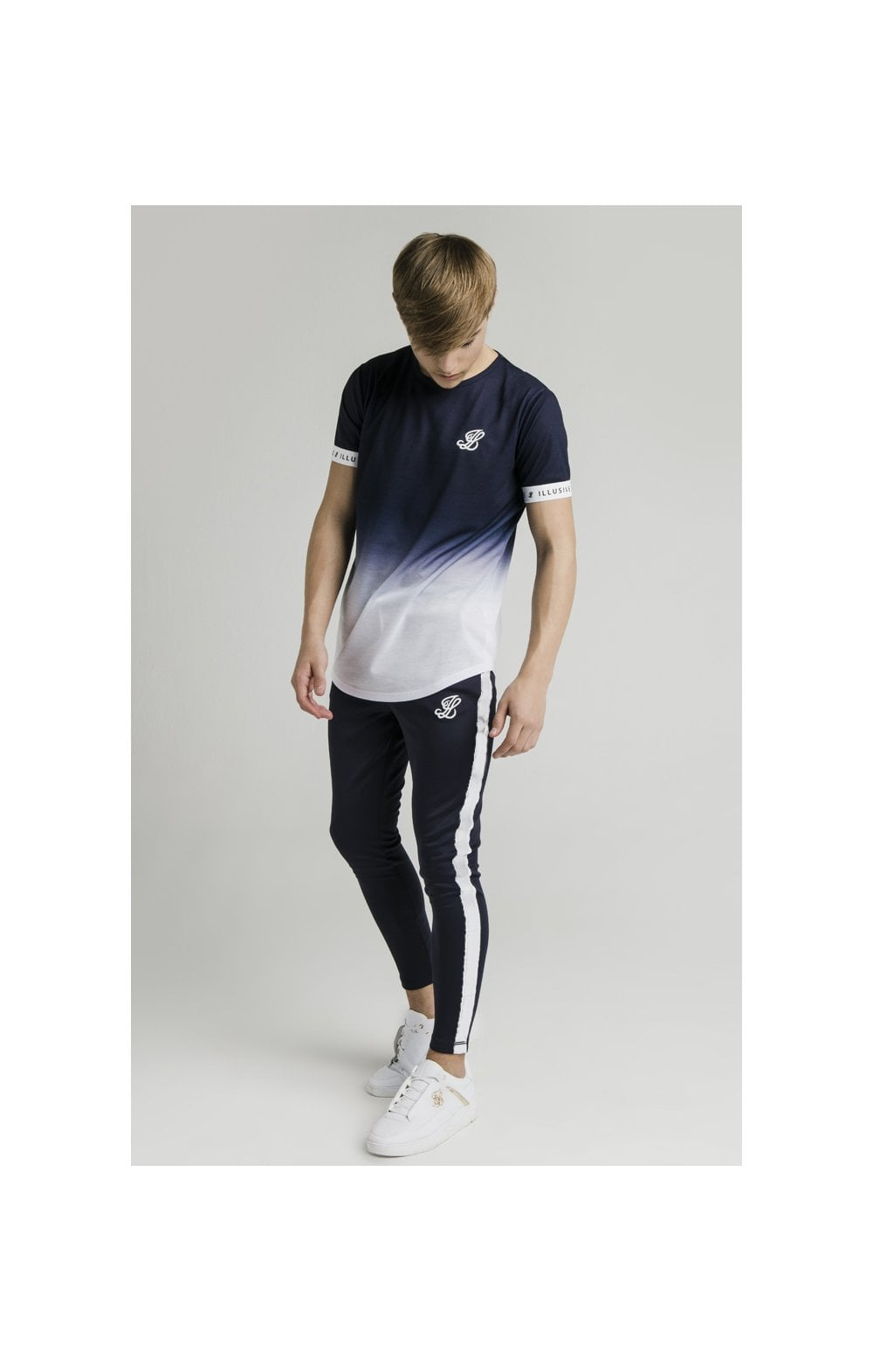 Load image into Gallery viewer, Illusive London Athlete Joggers - Navy & White (5)