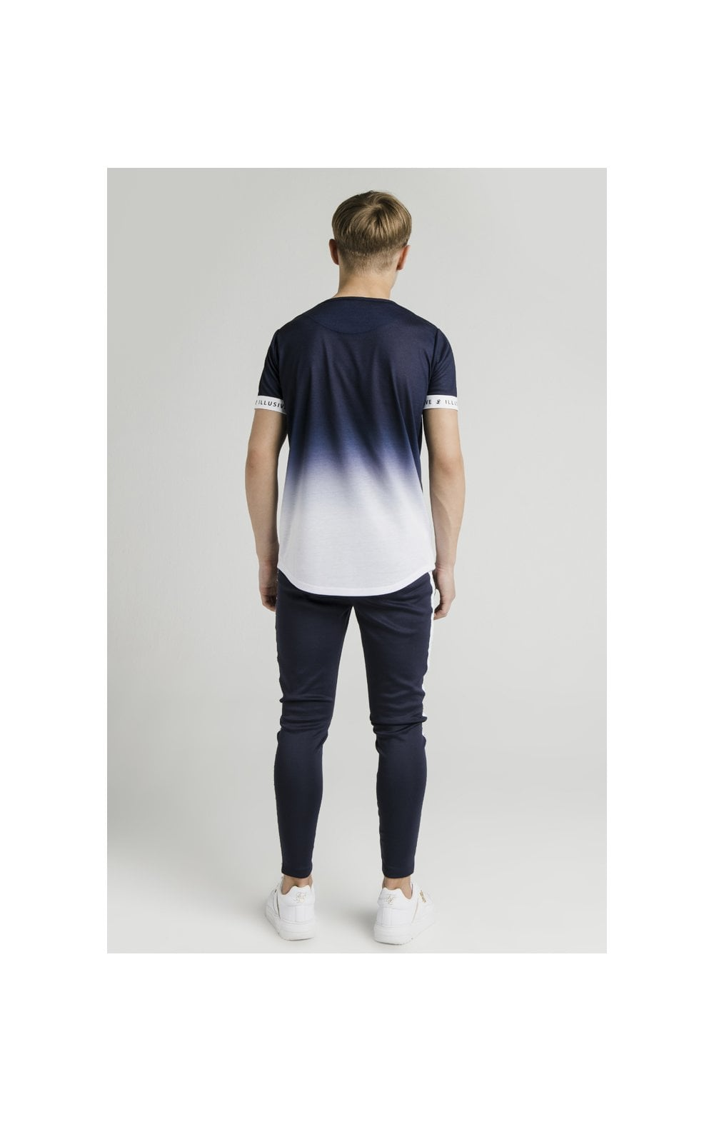 Load image into Gallery viewer, Illusive London Athlete Joggers - Navy & White (6)