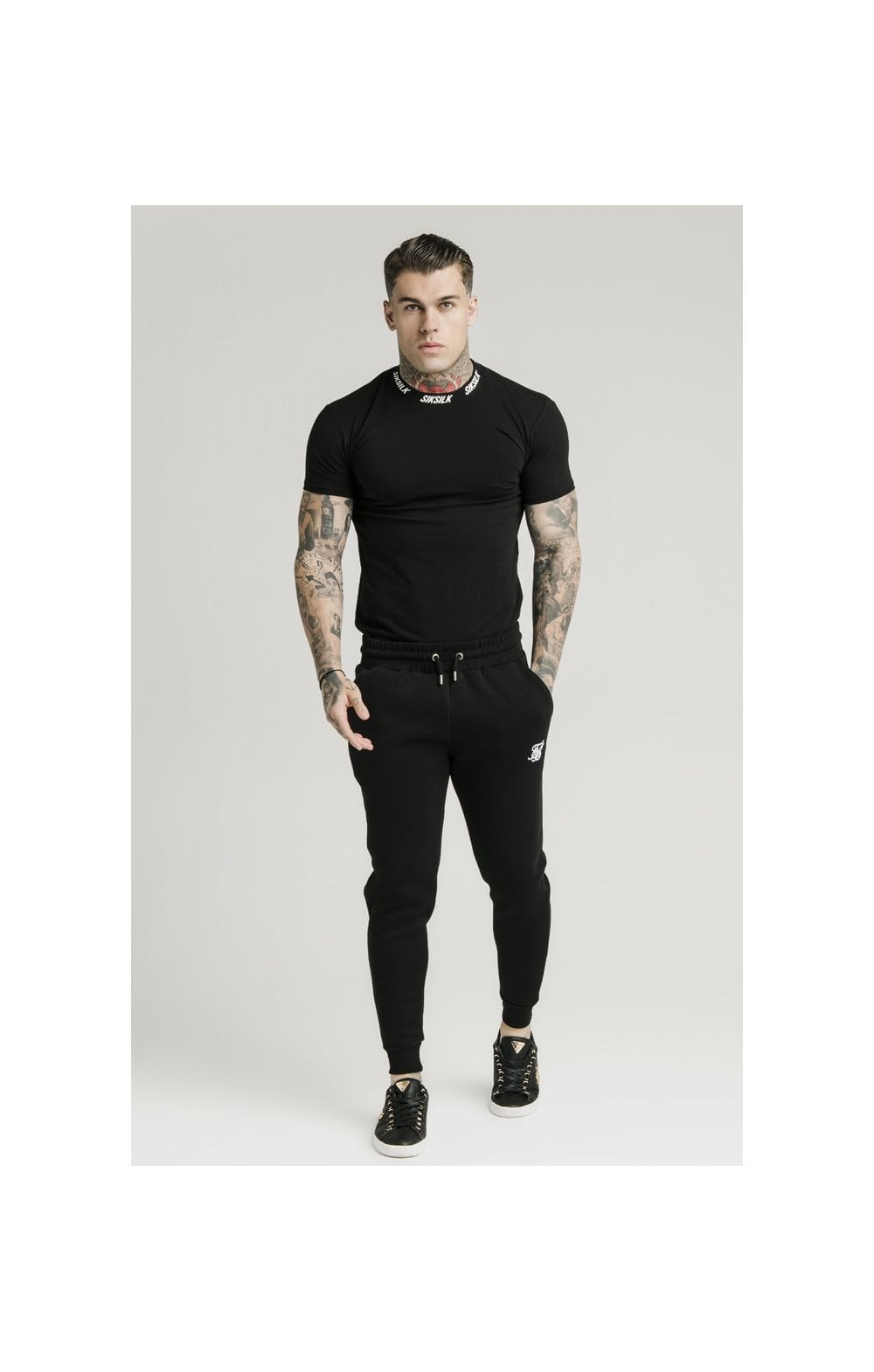 SikSilk Muscle Fit Jogger – Black (1)