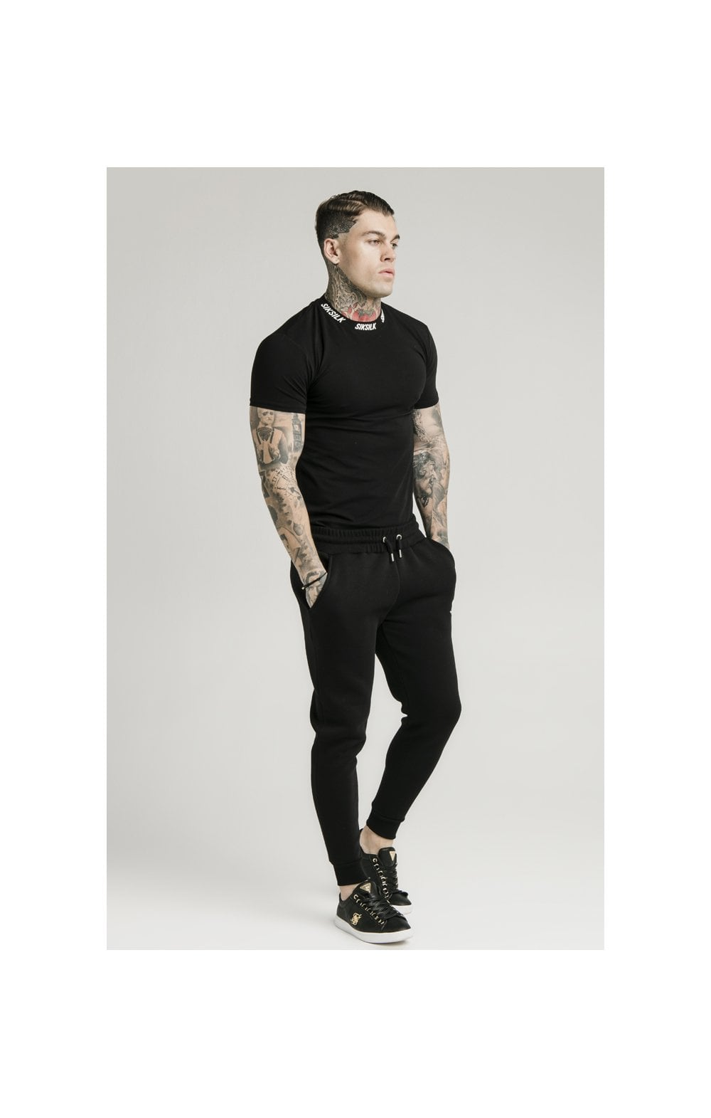 Load image into Gallery viewer, SikSilk Muscle Fit Jogger – Black (4)