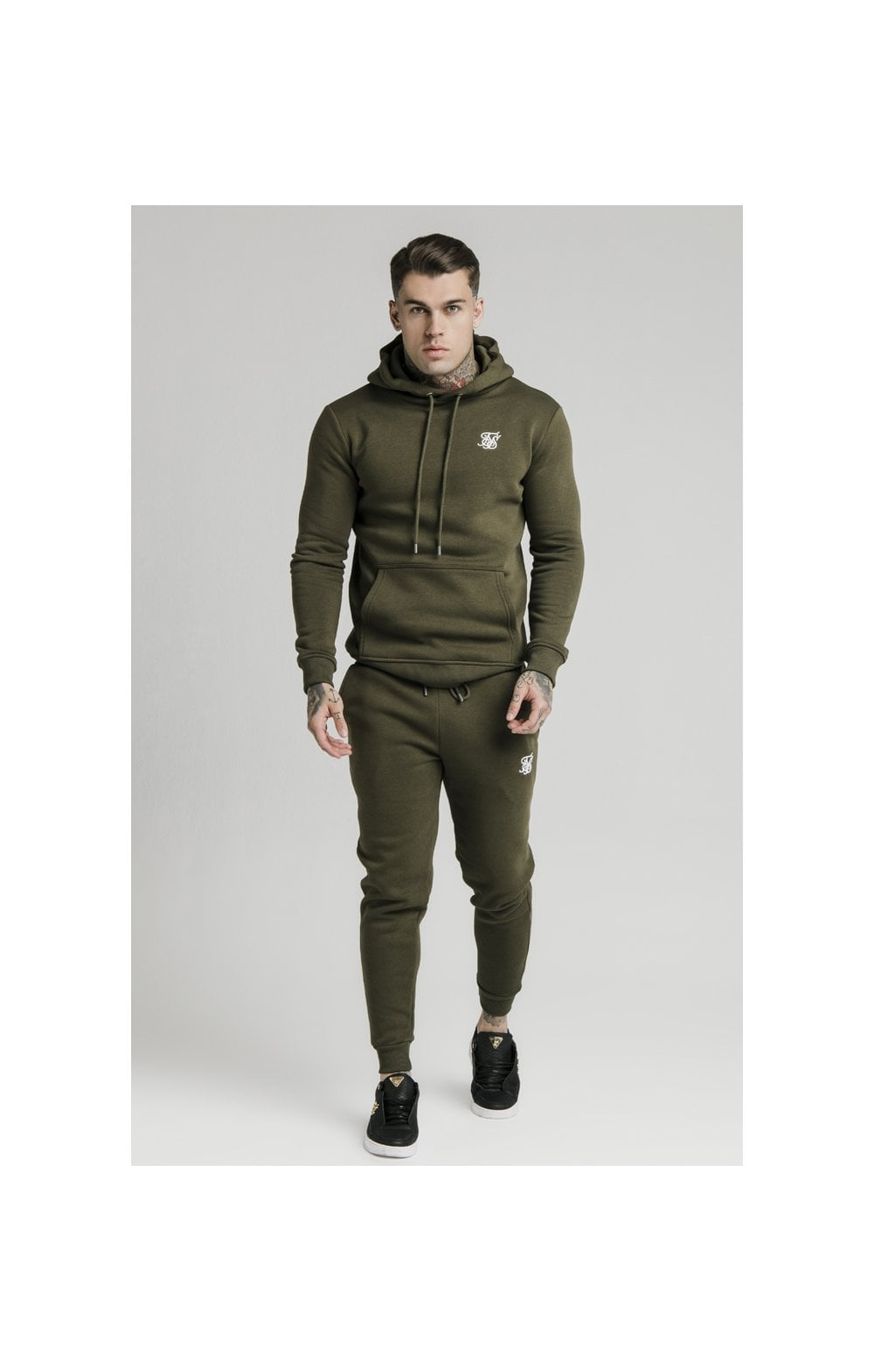 Load image into Gallery viewer, SikSilk Muscle Fit Overhead Hoodie - Khaki (4)
