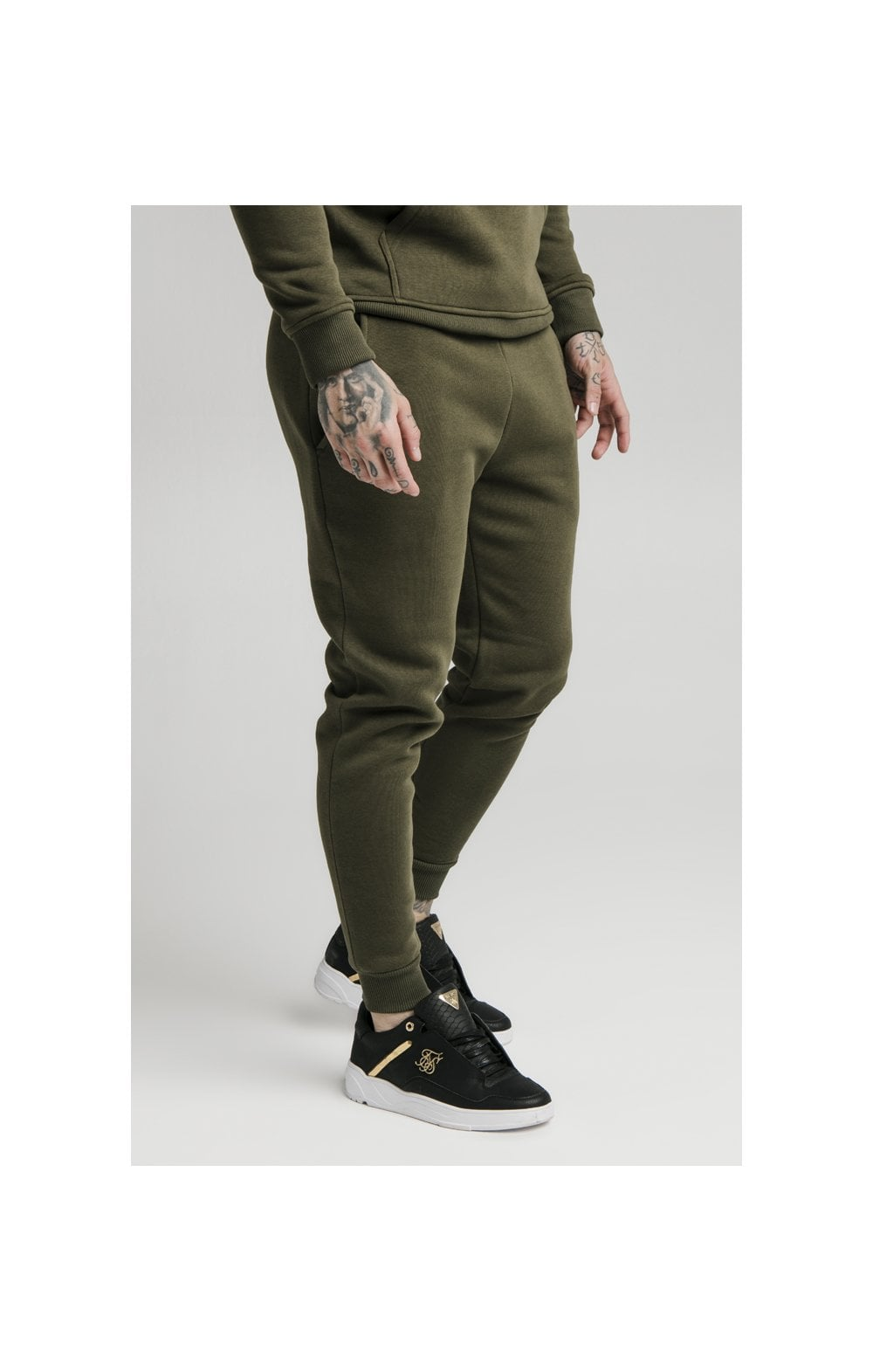 SikSilk Muscle Fit Jogger – Khaki (2)