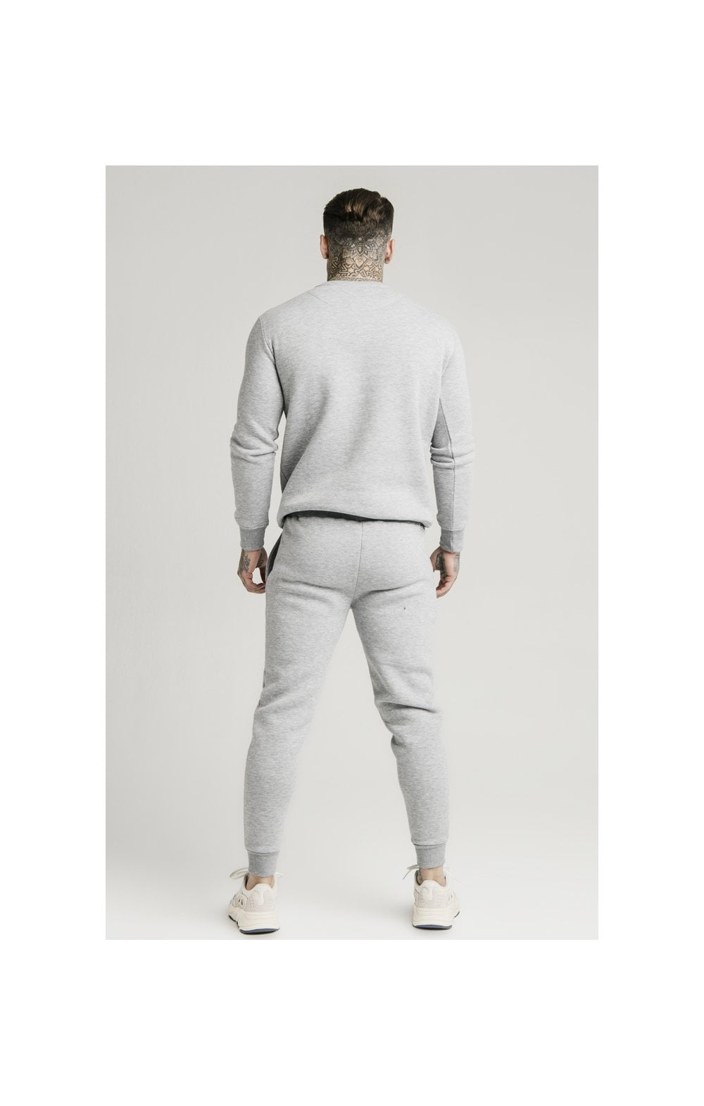 SikSilk Muscle Fit Jogger – Grey Marl (4)
