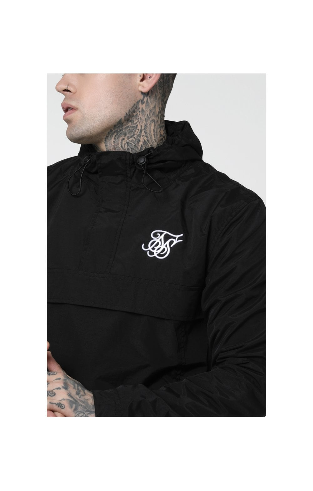 SikSilk Energy Windbreaker – Black