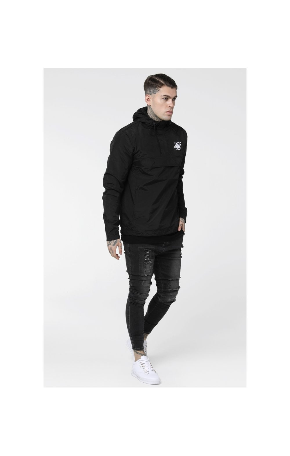 Load image into Gallery viewer, SikSilk Energy Windbreaker – Black (2)