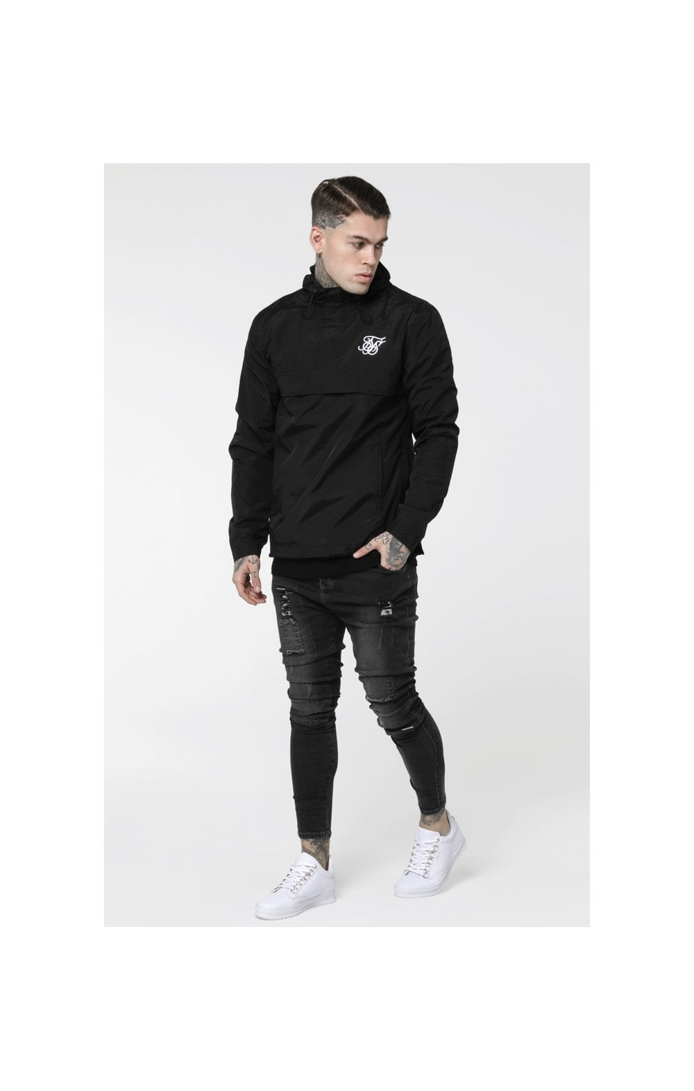 Load image into Gallery viewer, SikSilk Energy Windbreaker – Black (3)