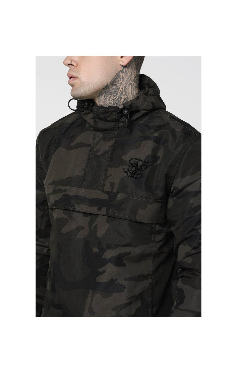 Load image into Gallery viewer, SikSilk Energy Windbreaker – Woodland Camo