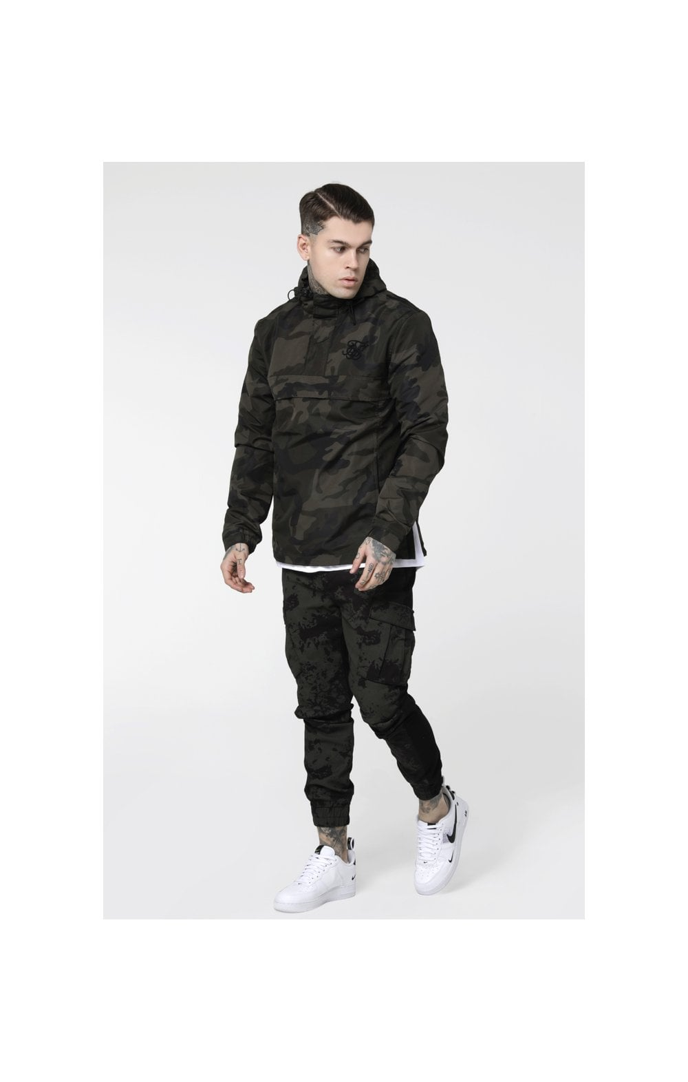 Load image into Gallery viewer, SikSilk Energy Windbreaker – Woodland Camo (1)