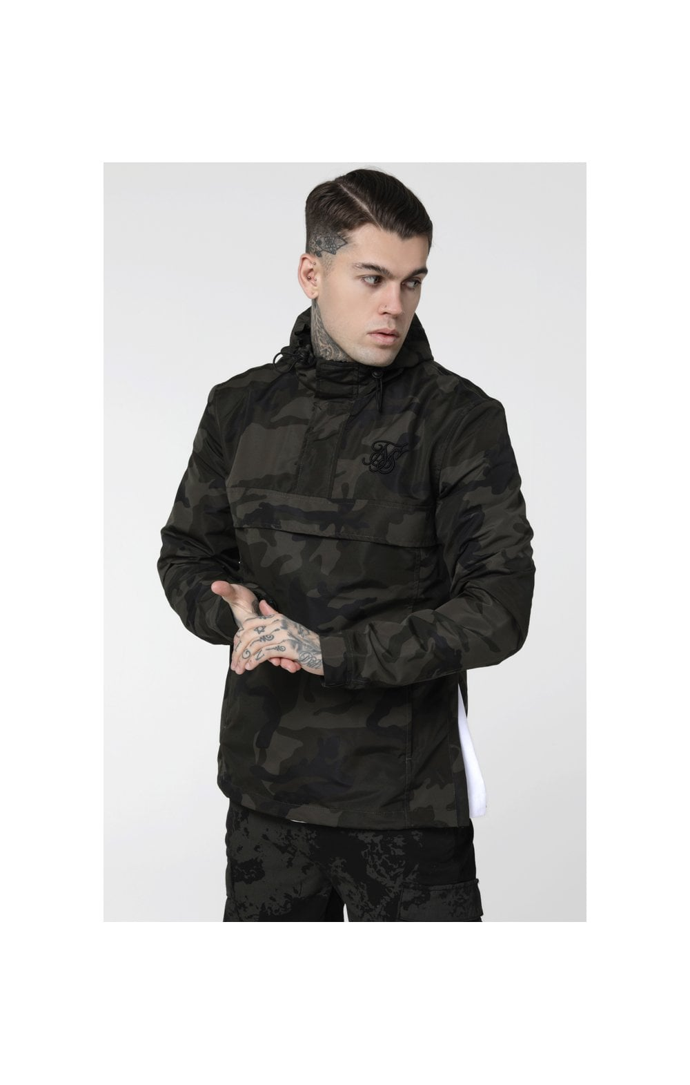 Load image into Gallery viewer, SikSilk Energy Windbreaker – Woodland Camo (2)
