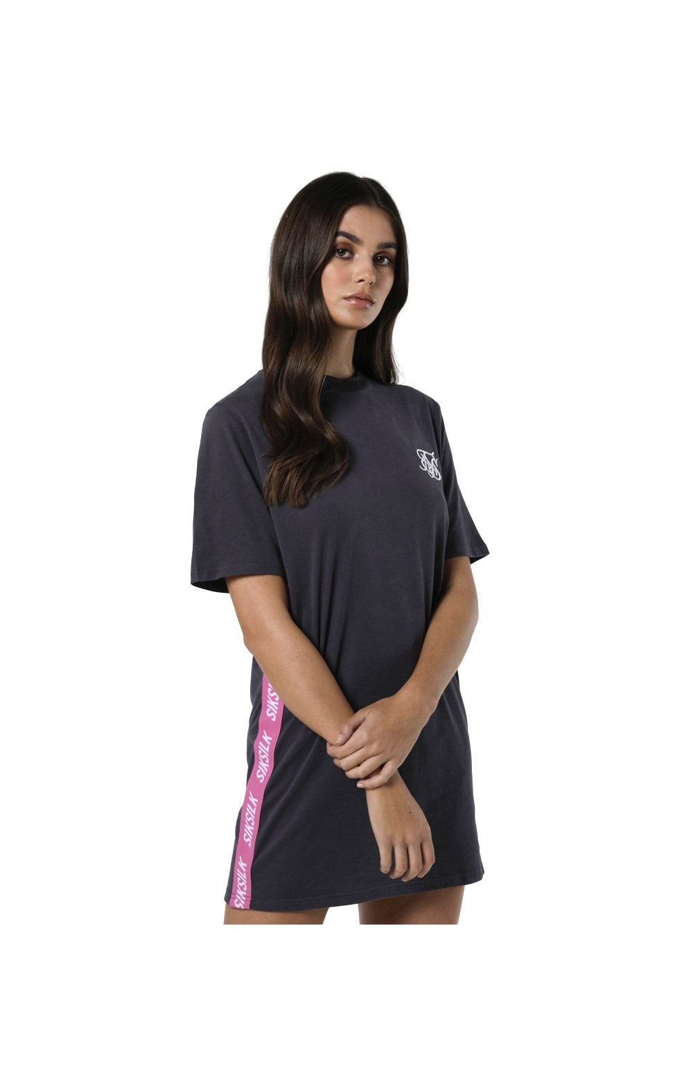Load image into Gallery viewer, SikSilk Tape Side T-Shirt Dress - Nine Iron (2)