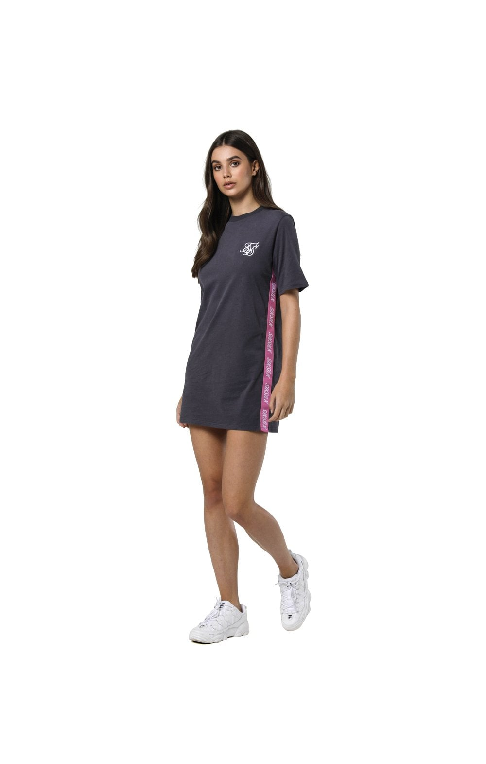 Load image into Gallery viewer, SikSilk Tape Side T-Shirt Dress - Nine Iron (3)
