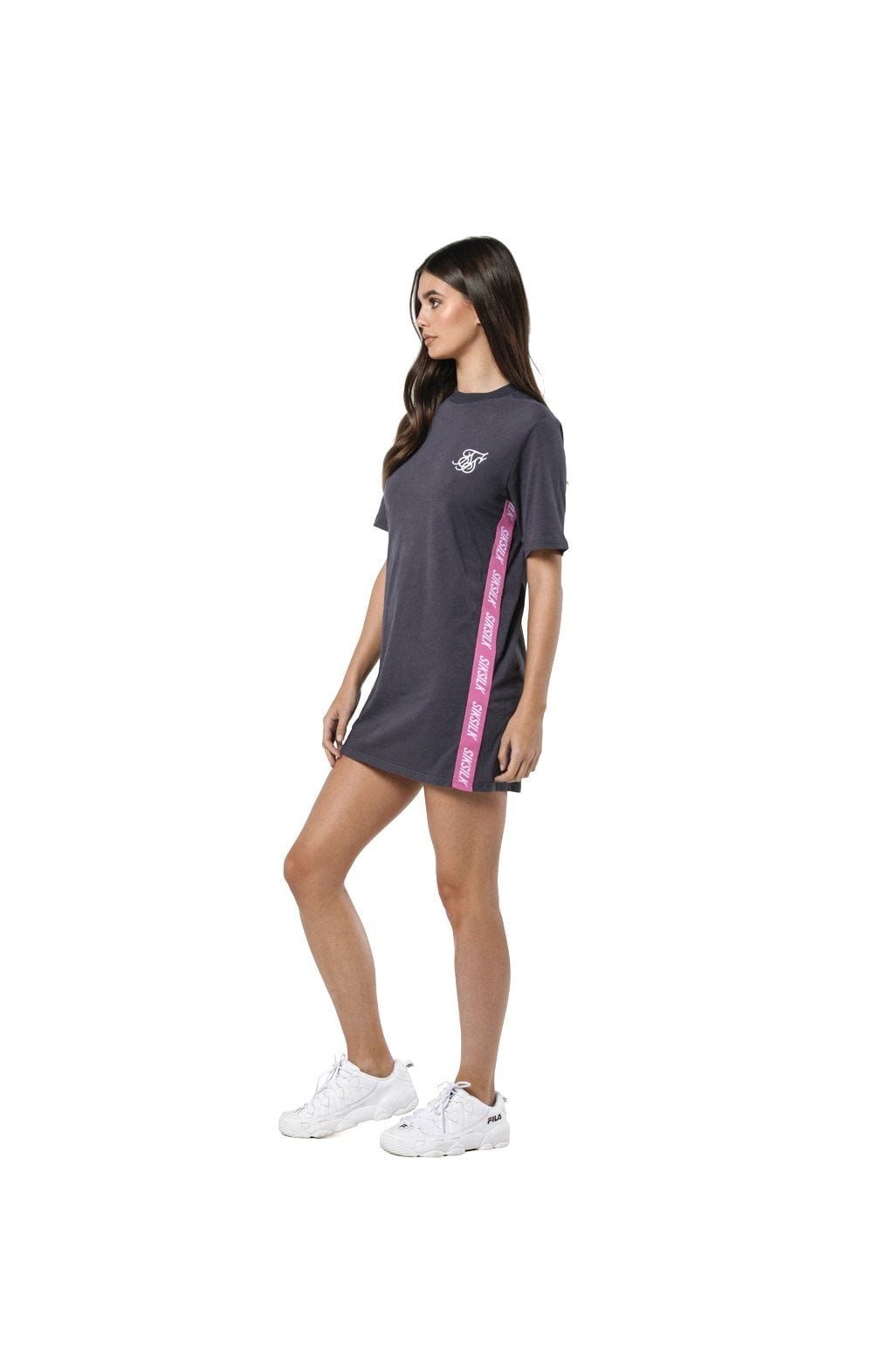 Load image into Gallery viewer, SikSilk Tape Side T-Shirt Dress - Nine Iron (4)