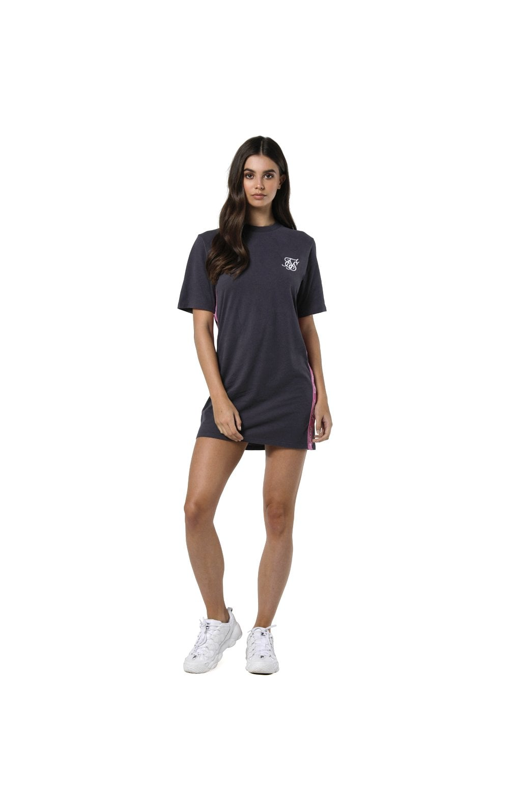 Load image into Gallery viewer, SikSilk Tape Side T-Shirt Dress - Nine Iron (5)