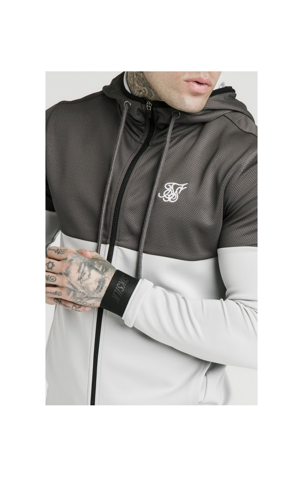 SikSilk Colour Block Agility - Anthracite & Ice Grey