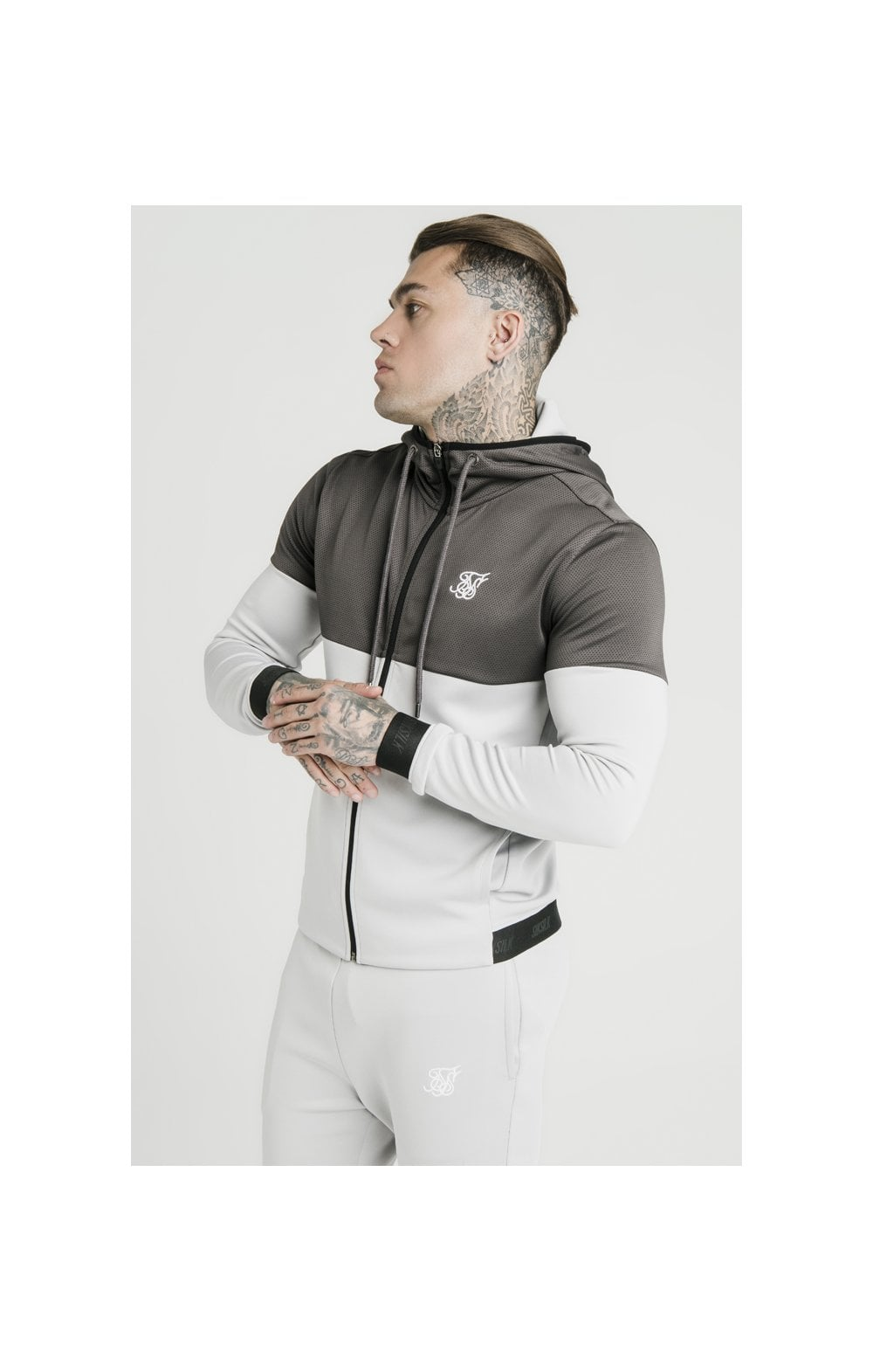 Load image into Gallery viewer, SikSilk Colour Block Agility - Anthracite & Ice Grey (1)