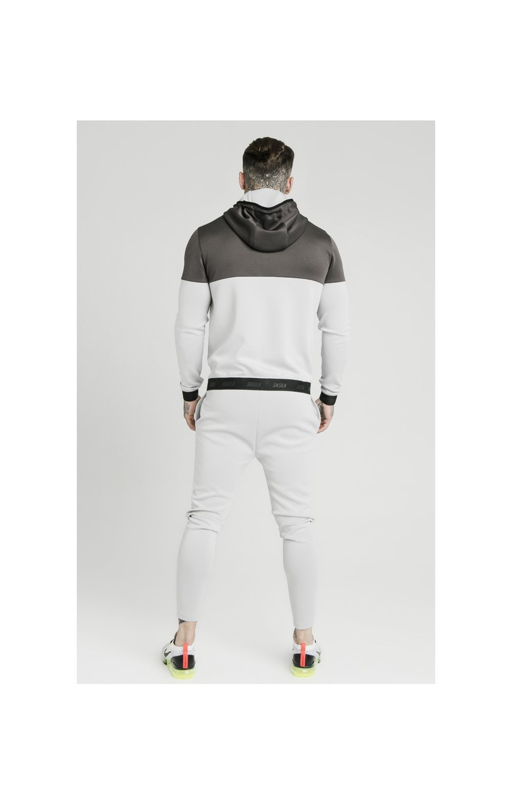 Load image into Gallery viewer, SikSilk Colour Block Agility - Anthracite & Ice Grey (5)