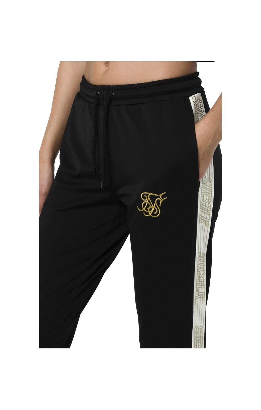 Load image into Gallery viewer, SikSilk Runner Track Pants – Black