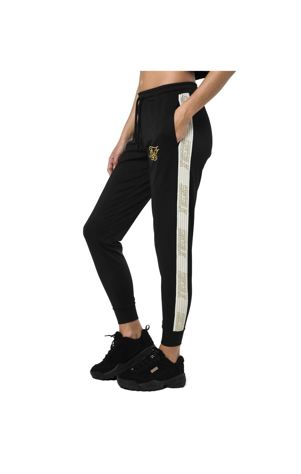 Load image into Gallery viewer, SikSilk Runner Track Pants – Black (1)