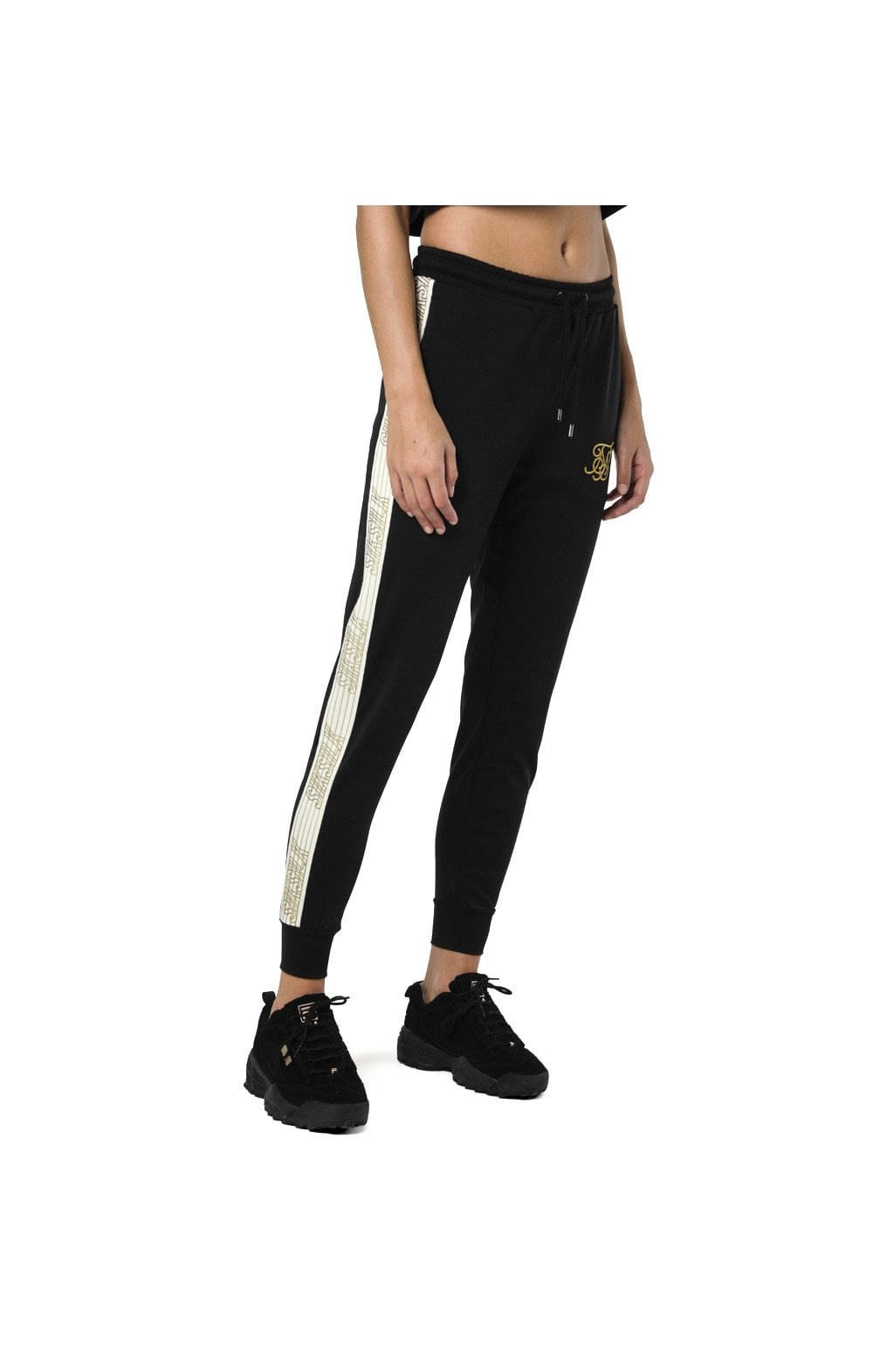 Load image into Gallery viewer, SikSilk Runner Track Pants – Black (2)