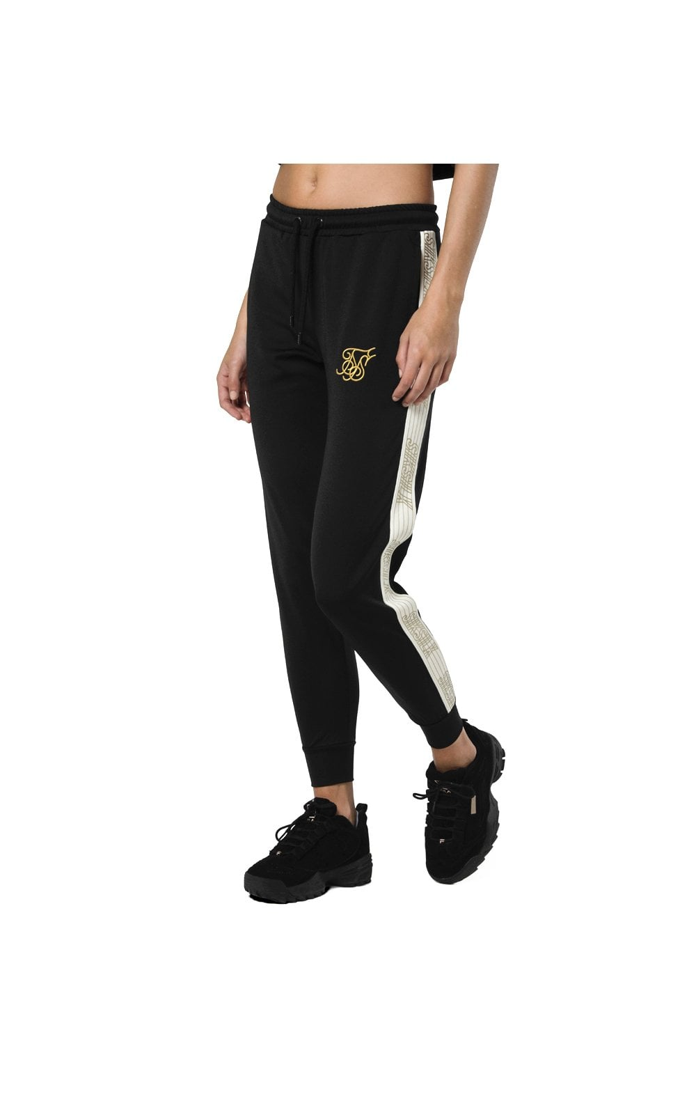 Load image into Gallery viewer, SikSilk Runner Track Pants – Black (3)