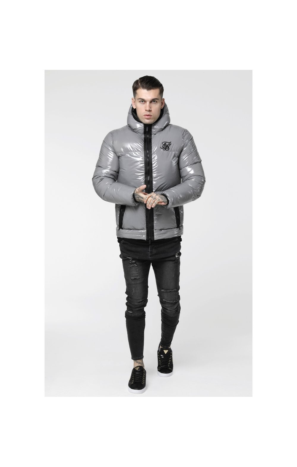 SikSilk Driven Jacket – Grey (1)