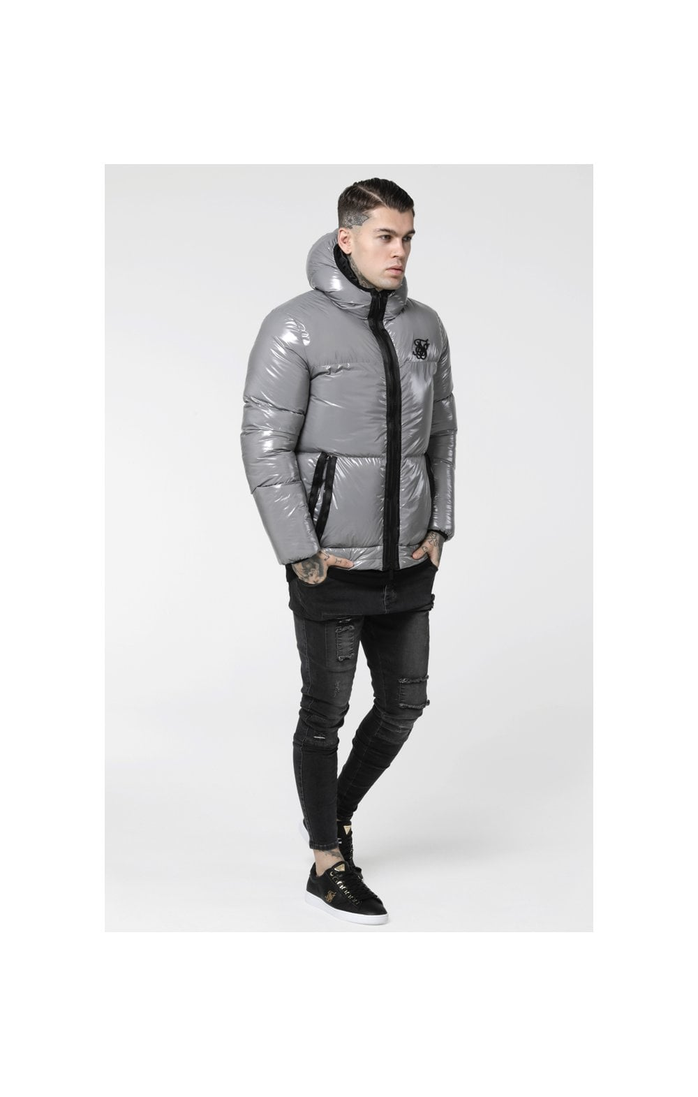 SikSilk Driven Jacket – Grey (2)