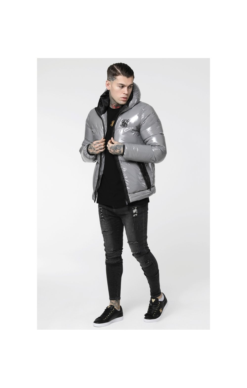 SikSilk Driven Jacket – Grey (3)