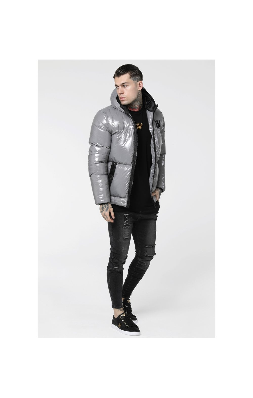 SikSilk Driven Jacket – Grey (4)