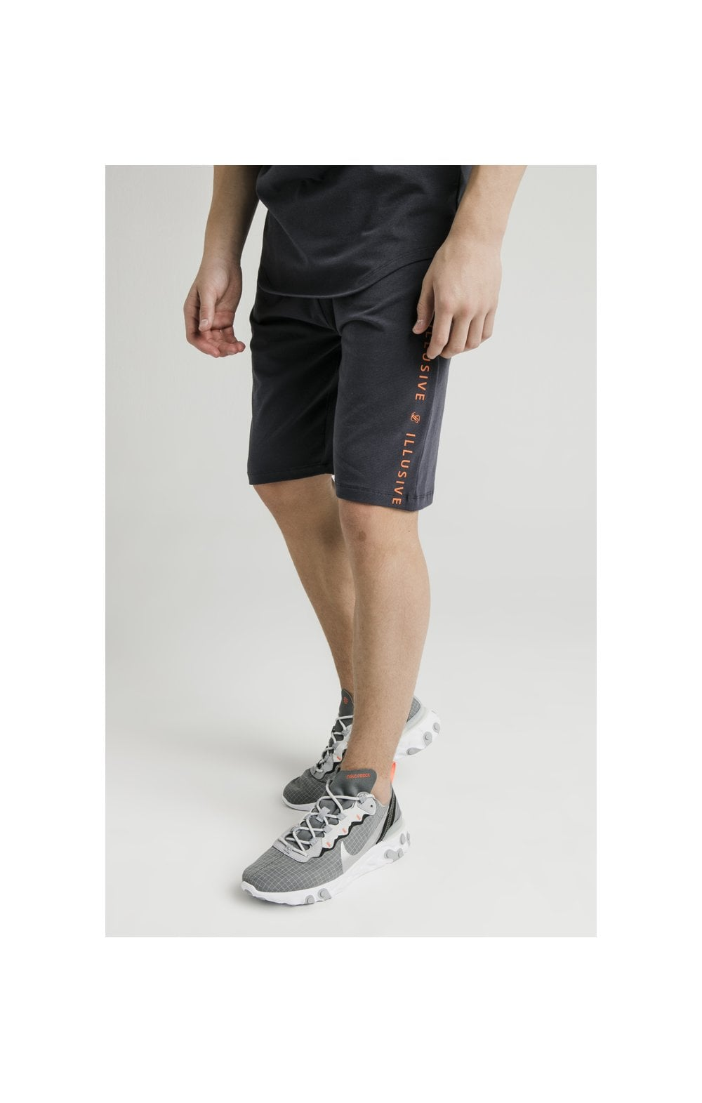 Load image into Gallery viewer, Illusive London Jersey Shorts – Grey & Orange