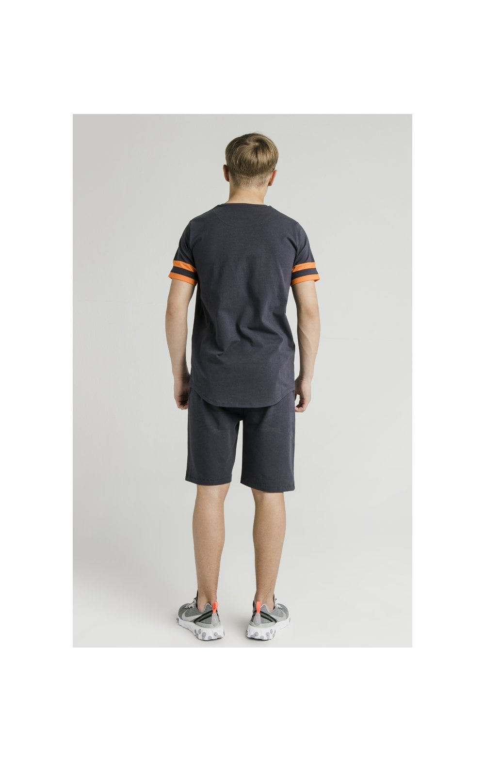 Load image into Gallery viewer, Illusive London Jersey Shorts – Grey & Orange (5)