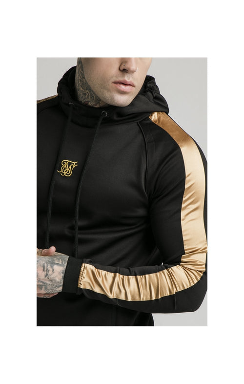 SikSilk Scope Overhead Panel Hoodie – Black & Gold