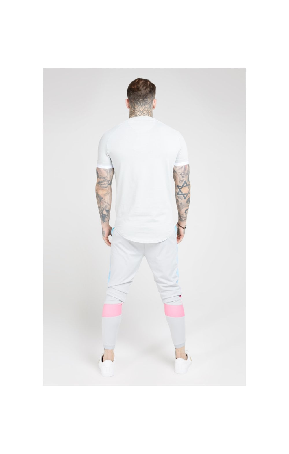 Load image into Gallery viewer, SikSilk S/S Inset Fade Tech Tee – Ice Grey & Tri Fade (5)