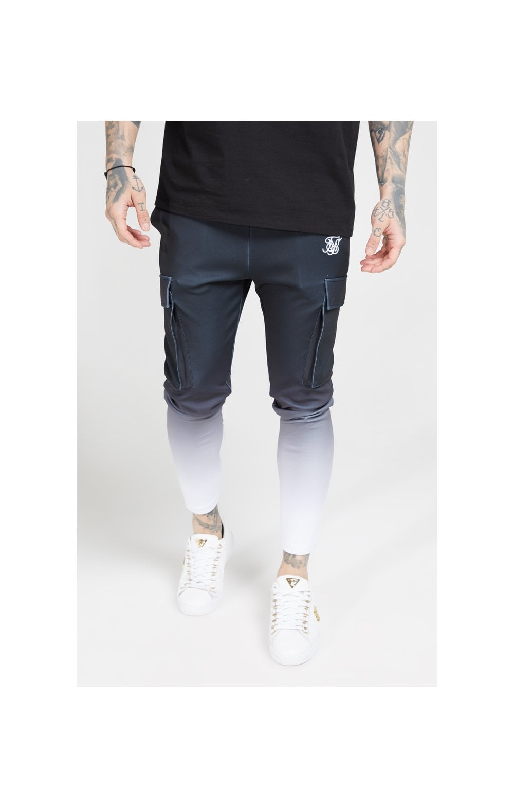 Load image into Gallery viewer, SikSilk Poly Athlete Cargo Pants - Black & White (1)