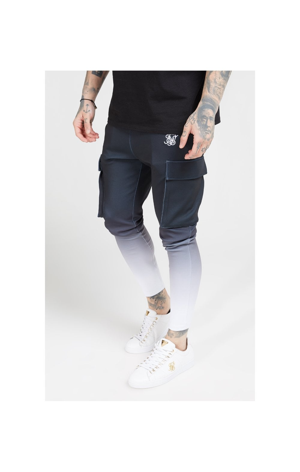 Load image into Gallery viewer, SikSilk Poly Athlete Cargo Pants - Black & White